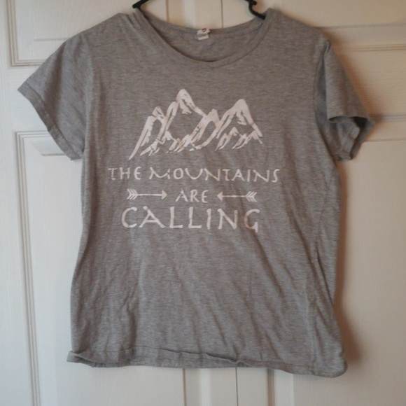 Anvil Tops - The mountains are calling tshirt